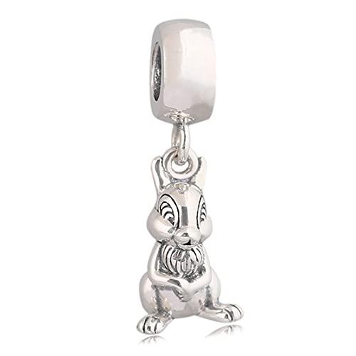 Pandora 925 Charm Uds Lindo Colgante De Conejo Cuentas Diy Adecuado Para Pulsera Original Señoras Joyería Haciendo Regalos