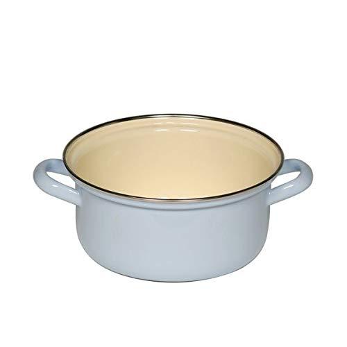 RIESS Classic - Haushaltsartikel Farb- / Pastellkasserolle mit Chromrand Ø 18 cm blau