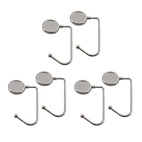 YARNOW 6 Stück Tischtasche Hakentasche Geldbörse Kleiderbügel Haken Schreibtisch Tasche Cliphalter Tragbar unter Thekenhaken