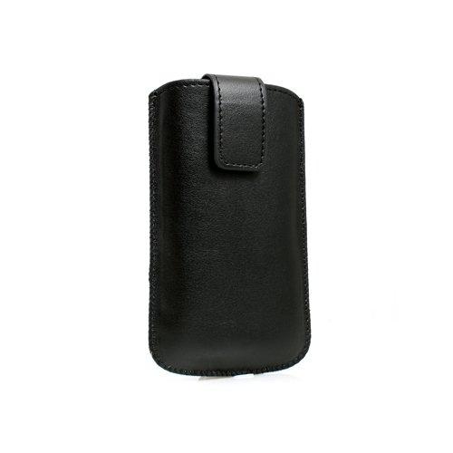 System-S Tasche Etui Sleeve Hülle Hülle mit Rückzugfunktion Ausziehhilfe in Schwarz für Motorola RAZR V3 RAZR2 V8
