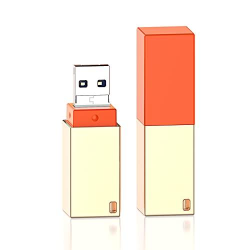 Chiavetta USB 128GB Compatibile Con Phone,QARFEE USB Flash Stick 3.0 Flash Drive USB 4-in-1 Memoria USB con design ad anello Compatibile Con Android/USB/Micro USB/Tipo C Porta (Oro)