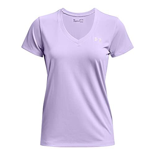 Under Armour Camiseta de manga corta con cuello en V para mujer