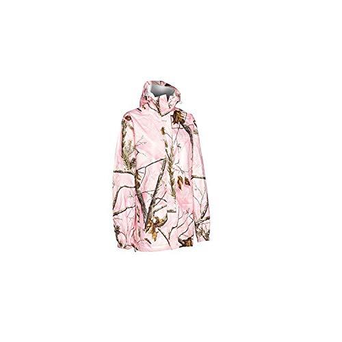 Realtree Storm Seeker AP Pink Camo Zip Up Hoodie Rain Jacket Size L/XL (Lg/XL)