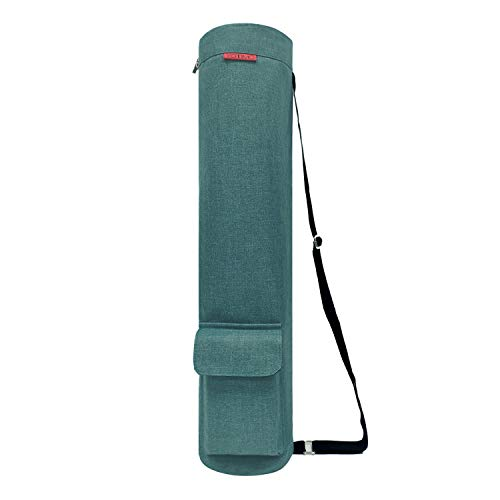 YOTIMO Yoga Mat Bag,Full Zip Exercise Yoga Mat Sling Bag with Multi-Functional Storage Pockets (Frosted Green)