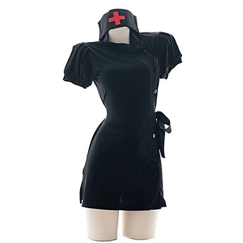 Cloudy Uniformes de Enfermera Falda Ultra Corta lencería Sexy Mujer Falda Dividida Pijamas para el hogar Cosplay Disfraz de canción y Baile unificado