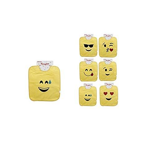 Takestop® Lot de 4 bavoirs emoji Smile Bavoir Coloré Imperméable Émoticône Bébé Fille Garçon Bébé Fille Coton Fantaisie Aléatoire