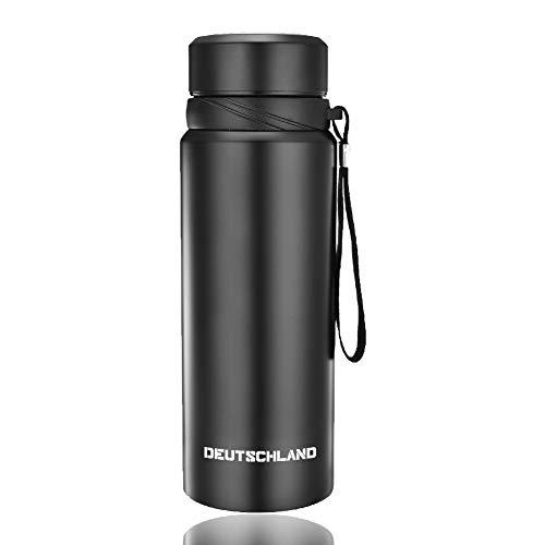 Qingxian Trinkflasche 1L Edelstahl Liquid Flasche Thermosflasche Kinder Doppelwandige Vakuum Isoliert Wasserflasche Auslaufsicher, Frei von BPA - Schule, Sport, Fahrrad, Auto, Fitness, Yoga, Camping