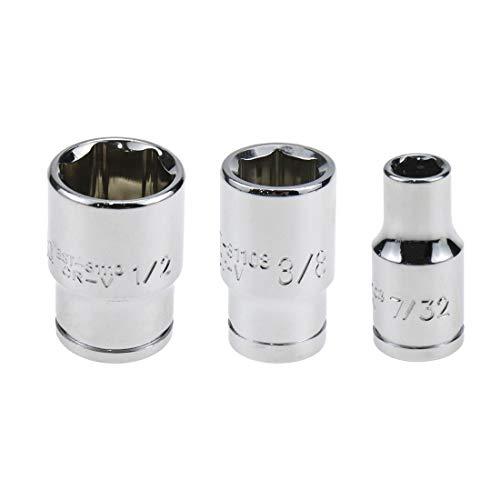 Bitray Square Drive Magnetic Bit Holder Socket Adapters Chromium Vanadium Steel 1/4', 3/8',1/2' Square Drive Bit Adapter