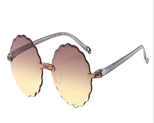 N-B Trendy Fashion Flower Sunglasses Baby Sunglasses Personality Frameless Polygon Children Sunglasses