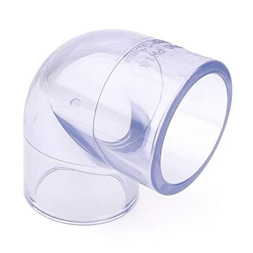 Herramientas de tubería Dia interior 50-110mm transparentes conector de PVC 45/90 grados articulaciones del codo del tanque del acuario de riego de jardín Conectores tubería de agua 1pcs Para tubos de