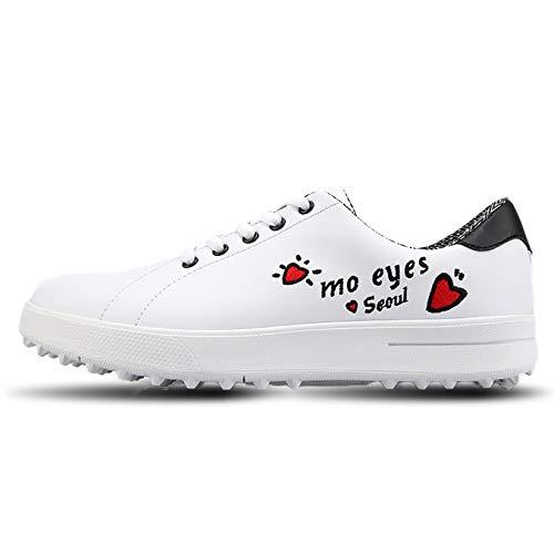 RTY Zapatos De Golf Impermeables para Mujer, Zapatos De Golf De Cuero...