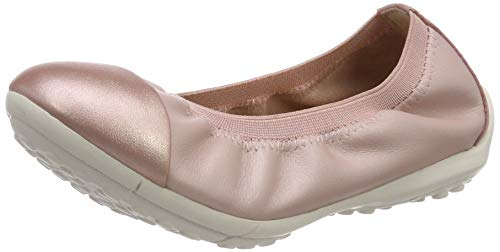 Geox Mädchen JR Piuma Ballerine A Geschlossene Ballerinas, Pink (Rose C8011), 35 EU