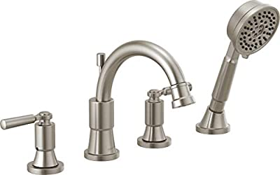 Delta Faucet PTT4523-BN Westchester Roman Tub Trim Kit with Hand Shower, Brushed Nickel