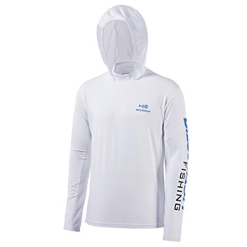 Bassdash UPF 50+ -T-Shirt da Pesca Rashguard Protezione Solare Felpa da Uomo con Cappuccio e Protezione dai Raggi UV