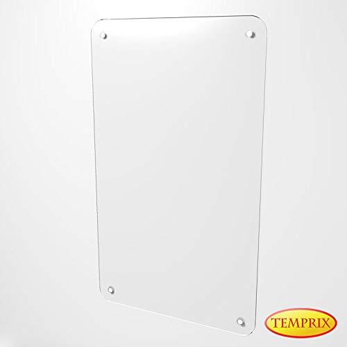 Wandschutz für Kamin & Ofen | Funkenschutz aus Glas | Glas wand als Hitzeschutz & Möbelschutz | Larvik