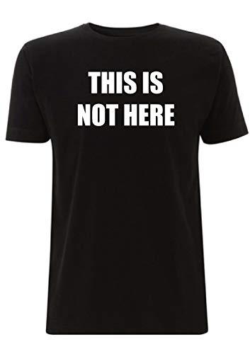 "T-Shirt mit Aufschrift ""This is Not Here"", Lennon Stranger Things, John Rock n Roll Sci Fi Slogan Zitat Beatles Gr. L, Schwarz"