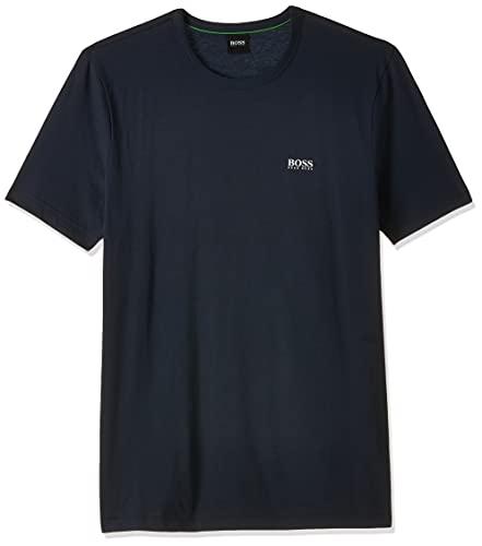 Hugo Boss Green Camiseta de cuello redondo Gris Claro, Azul (Navy 410),...