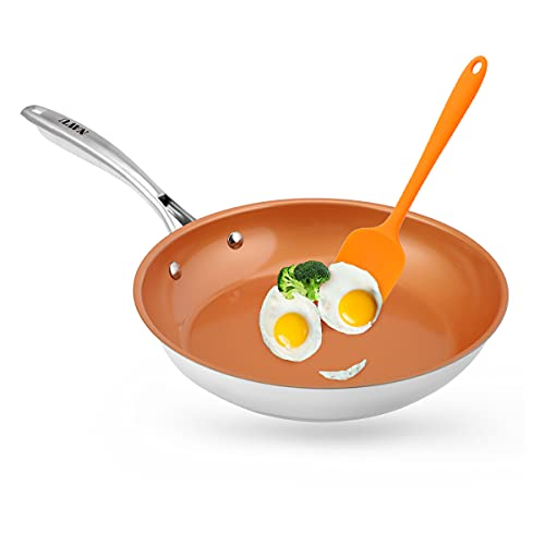 Frying Pan, NAVU Nonstick Egg Pans for Cooking, Non Stick Skillet Ceramic Coating Cookware, 8 Inch