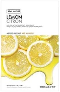 [The Face Shop] Real Nature Mask Sheet 20g #Lemon