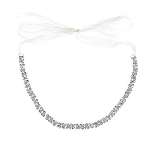 ifundom Bridal Rhinestone Belt Wedding Bridesmaid Sash Crystal Dress Cinturón Diadema para...
