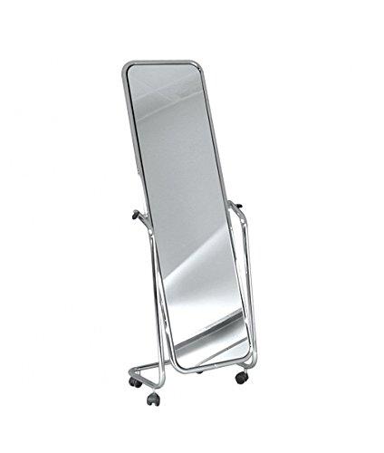 Metall Möbel Spiegel mit Rädern schwenkbar von Boden 150 cm professionell für Geschäfte, Spinnen.