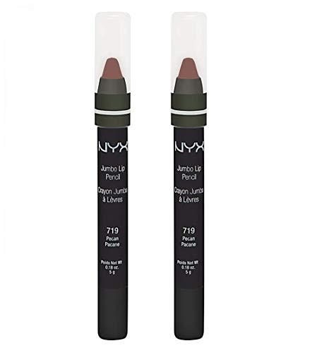 Pack of 2 NYX Jumbo Lip Pencil, 719 Pecan, JLP719 -  800897114879