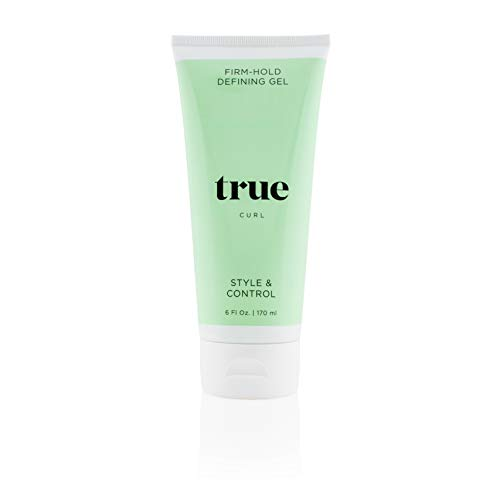 True Curl Firm Hold Defining Hair Gel, Vegan, Cruelty Free, Style and Control for Frizz-Free Curly Hair. Silicone, Sulfate and Paraben-Free, 6 Fl Oz.