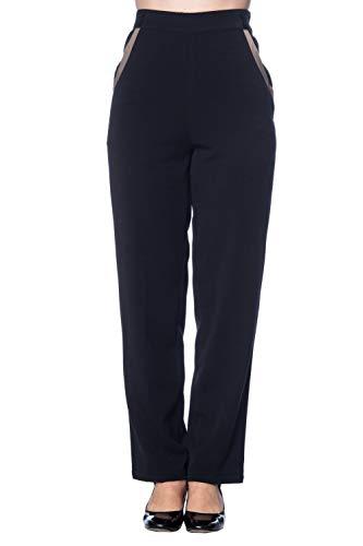 Banned Apparel - Contrast Trim Trousers M/Black