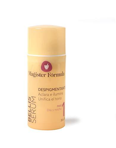 Bellis Serum Despigmentante 30 ml | Tratamiento Antimanchas | Colágeno hidrolizado | Iluminador e hidratante facial | Vitaminas | Día y Noche | Para todo tipo de piel | Magister Fórmula