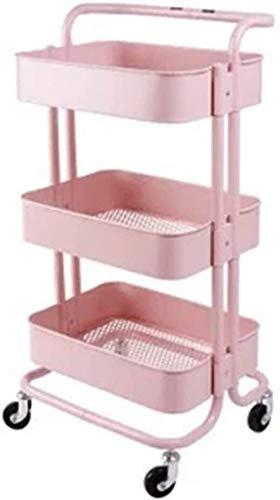 TXXM Carrito de almacenamiento para el hogar, baño, cocina, sala de estar, dormitorio, con rueda, estante de almacenamiento de varias capas (color: D, tamaño: 35 x 45 x 87 cm)
