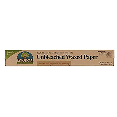 If You Care All Natural Unbleached Waxed Paper 75 Sq Ft (Pack of 4)