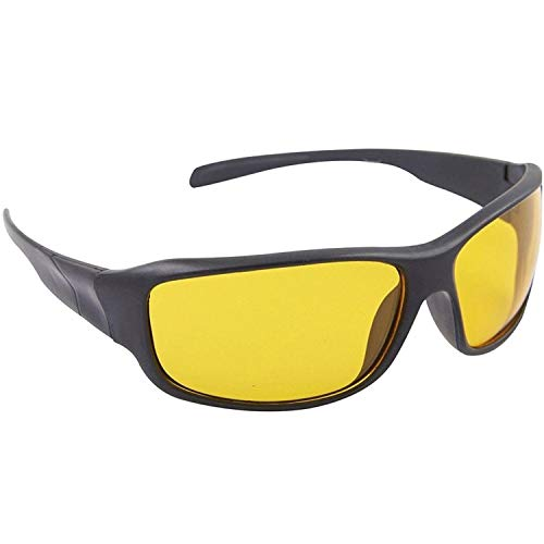 MOZTRENDZ Air Force Night Vision Glasses Men and Women for Bike Riding and Car Driving Sport Polarized Anti Glare Night Vision Glasses Reduce Eye Strain (Made in India)