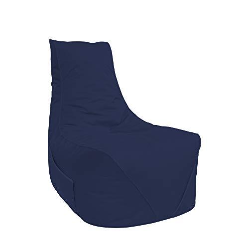 Lacasa Sitzsäcke Komfort Gamer mit Sitetentasche XL-XXL Kinder Erwachsene Indoor Outdoor Beanbag Sitzkissen (XL - Kinder, Marineblau)