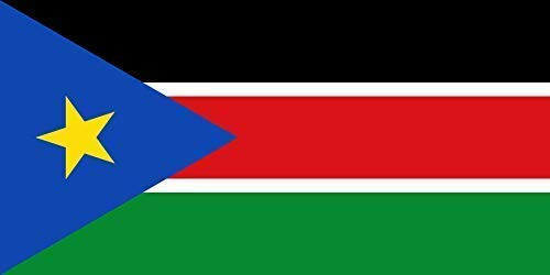 INERRA Große 150cm X 90cm Flaggen - Africa Range - mit 2 Metallösen - 5ft X 3ft - South Sudan