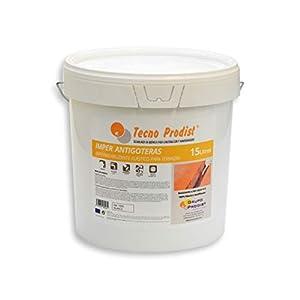 IMPER ANTIGOTERAS de Tecno Prodist – (1 Kg) BLANCO Pintura Impermeabilizante elástica para Terrazas (A Rodillo o brocha)