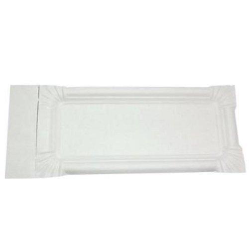Gastro-Bedarf-Gutheil 1000 x Pappteller 8 x 18 + 3 cm Abriss weiß Bratwurst - Pappen