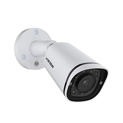 H.VIEW PoE Kamera 5MP IP Überwachungskamera Bullet 2592x1944P HD mit Audio für Außen/Innen Wetterfest IP67 ONVIF Tag/IR Nachtsicht Bewegungserkennung