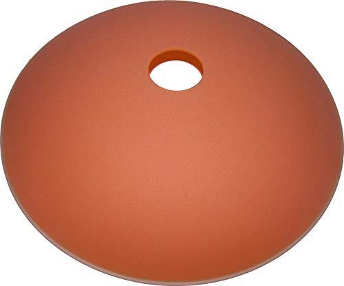 Lampenschirm, Ersatzlampenschirm aus Glas Durchmesser 32 cm geeignet für Deckenhängelampen, Stehfluter, Pendelleuchten mit E-27 Fassungen, satiniert (orange)