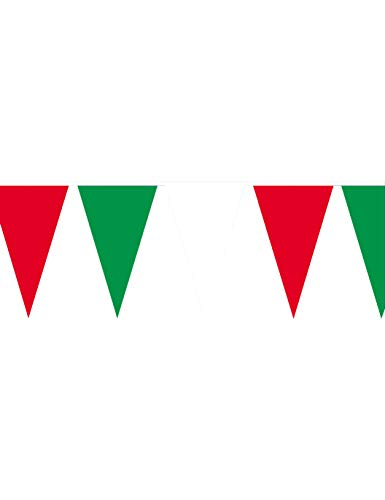 amscan 8625 400 x 26 cm Bunting Banner Green/White/Red