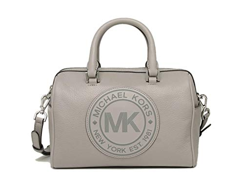 """Made of pebbled leather Removable and adjustable crossbody strap, wear three ways, crossbody, over the shoulder or carry by hand Top zip closure Inside 1 zip pocket and 2 slip pockets 9.25""""L x 7""""H x 5.5""""D"""