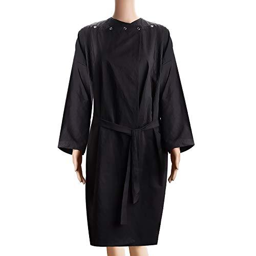 Noverlife Spa massage kimono kundrock, vatten kemisk säker salong badrock klient wrap, lätt svart smock klänning strandrock för skönhetsbehandlingar frisör smink