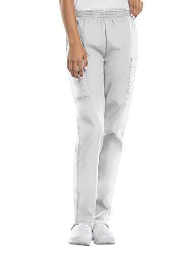CHEROKEE Damen-Cargo-Peelinghose mit elastischer Taille - Weiß - Medium Zierlich