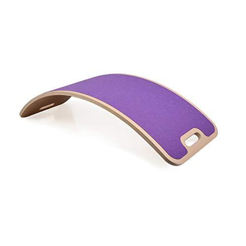 Perfect Arc'Felt' Curvy Board Waldorf Board Montessori Board curvo Balance Board oscillare legno naturale (viola)