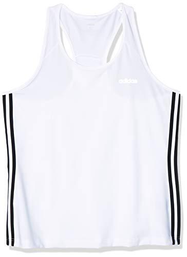 adidas Design 2 Move 3 Bandas Camiseta de Tirantes, Mujer, Blanco (White/Black), S