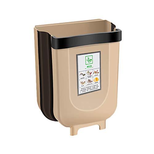 Huiyoo opknoping prullenbak voor keuken kast deur, inklapbare prullenbak kleine compacte vuilnisbak kan bevestigd aan kabinet deur keuken lade slaapkamer slaapzaal auto afval Bin