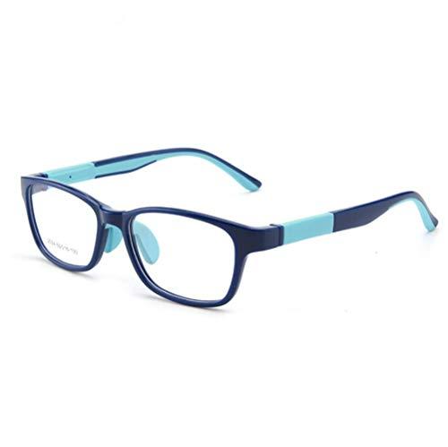 Kinder Brille ohne Sehstärke Anti-Blaulicht Computerbrille UV Schutz Blaulichtfilter Dekobrille Computer Fernsehen Tablet Schutzbrille Junge Mädchen Rechteckige Brillenfassung mit Transparenter Linse