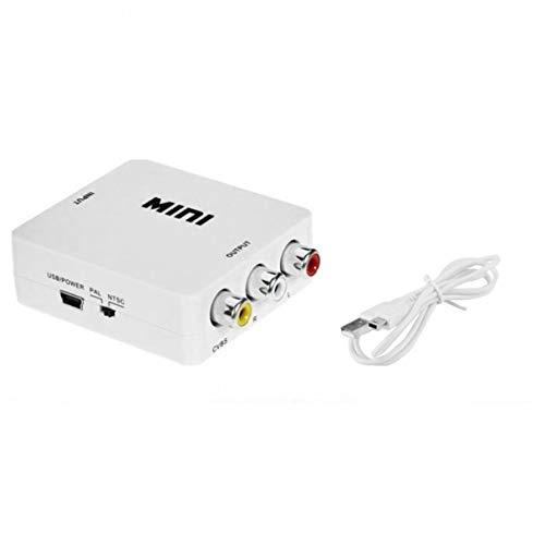 Morninganswer Mini Compuesto Compatible con HDMI a CVBS RCA AV Video Converter Adapter Video Converter Box HRCA HD Video Converter