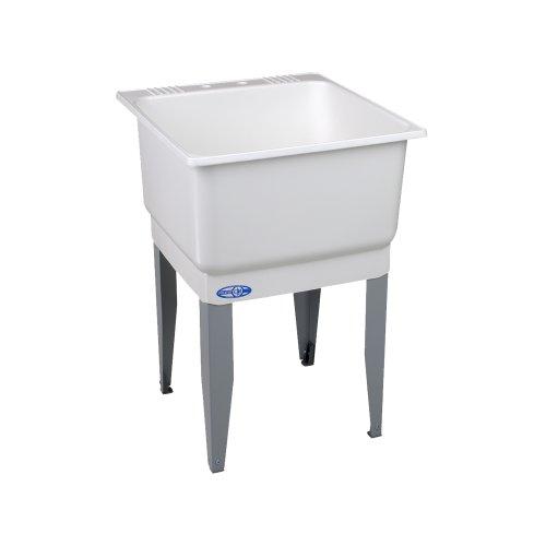 Mustee Utilatub Floor Mount Extra Deep Laundry Room Utility Sink