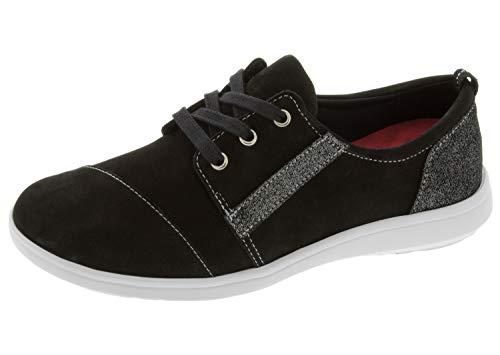 SAS Womens Marnie Active Lace-Up Shoe (7 M (M) (B) US, Black/Sparkle)