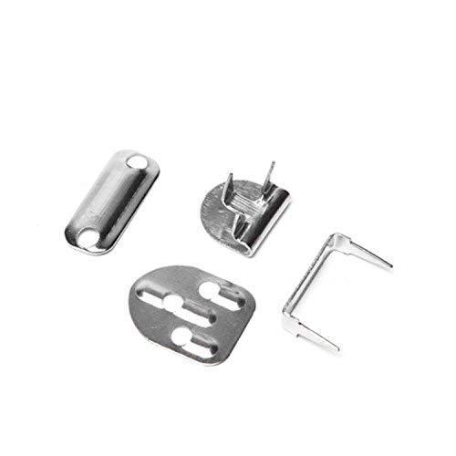 Trimmen Shop 11mm Silber Hosenhaken und Bar Augenverschlüsse, Nicht annähen Verschluss Bund Hosen Röcke Kleidung, 10 Stück